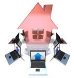 Bens imobiliários em linha ilustração stock