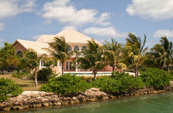 Bens imobiliários luxuosos Fotografia de Stock Royalty Free