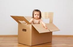 Bens imobiliários - mova-se na HOME nova Imagem de Stock