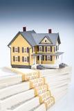 Bens imobiliários no branco isolado Fotografia de Stock Royalty Free