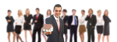Bens imobiliários no negócio Fotos de Stock Royalty Free