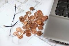 Bens imobiliários que investem o evaluetion Imagens de Stock Royalty Free