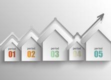 Bens imobiliários - um infographics do sumário do conceito Fotografia de Stock