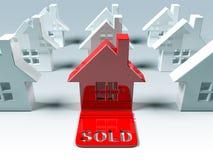 Bens imobiliários: vendido ilustração stock