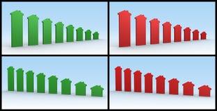 Bens imobiliários dos gráficos Fotografia de Stock