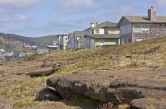 Bens imobiliários e paisagem da costa de Oregon Foto de Stock