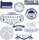 Bensalem township, PA, generic stamps and signs Stock Photography