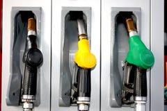 Bensin diesel, pump för olje- behållare för uppvärmning Arkivbilder