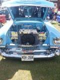 Bensin tankade bilmotorn Royaltyfri Bild