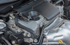 Bensin tankade bilmotorn Fotografering för Bildbyråer