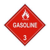 bensinetikettvarning arkivfoton