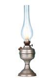 Bensinlampa på vit Arkivfoton