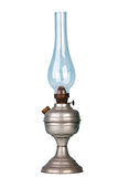 Bensinlampa på vit Arkivfoto