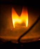 Bensinlampflamma Fotografering för Bildbyråer