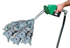 bensinpriser Fotografering för Bildbyråer