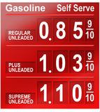 bensinpriser Arkivfoton