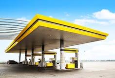 bensinstation Fotografering för Bildbyråer