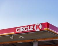 Bensinstation för cirkel K royaltyfri bild