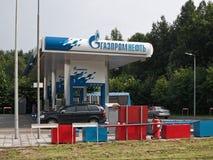 Bensinstation Gazprom Neft Fotografering för Bildbyråer