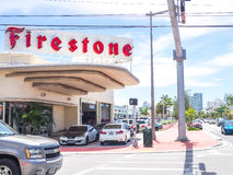 Bensinstation i Miami Beach Royaltyfria Bilder