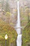 Benson Footbridge e quedas Oregon OU E.U. de Multnomah fotografia de stock royalty free