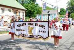 Benson High School Marching Band, Benson, MN Stock Images