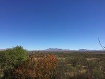 Benson Mountain Valley, AZ stockbilder