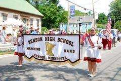 Benson School-Blaskapelle, Benson, Mangan stockbilder