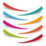 Bent Banners White Background coloreado Imagenes de archivo