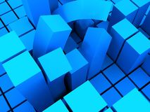 Bent block structure Stock Images
