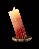 Bent candle Stock Image