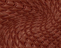 Bent chocolate texture.Abstract background. Royalty Free Stock Images