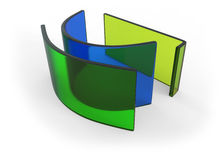 Bent glass Stock Image