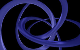 Bent glossy helix. Bent violet glossy helix on a black background Royalty Free Stock Photo