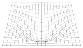 Bent grid in perspective. 3d mesh with convex distortion royalty free illustration
