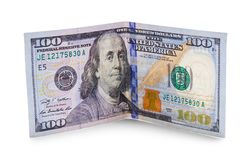 Free Bent Hundred Dollars Royalty Free Stock Images - 116907999