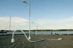 Bent Lampposts - Halifax - Nova Scotia immagine stock