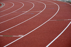 Bent lines of a marking of stadium Stock Image