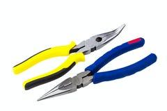 Bent long nose pliers Stock Photos