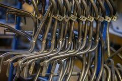 Bent metal bars Royalty Free Stock Photos