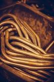 Bent metal bars Stock Image