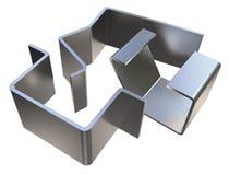 Bent metal parts Royalty Free Stock Image