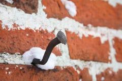 Bent nail, Royalty Free Stock Photo