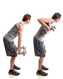 Bent Over Row Royalty Free Stock Photography
