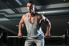 Bent Over Row Workout For Back Stock Photos