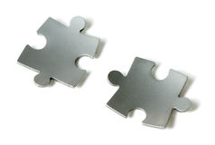 Bent puzzle pieces Royalty Free Stock Image