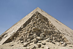The Bent Pyramid 2. Detached corner of the The big Bent Pyramid of Snefru Royalty Free Stock Photo