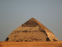 Bent Pyramid. Ancient Egyptian pyramid built during the reign of Sneferu around 2600 BCE Royalty Free Stock Image