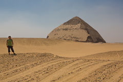 Bent Pyramid at the bottom Royalty Free Stock Images