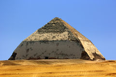 Bent Pyramid. Egypt. Dahshur (or Dashur). The Bent Pyramid (also knew as False, or Rhomboidal Pyramid because of it changed angle slope) of Pharaoh Sneferu with royalty free stock photo